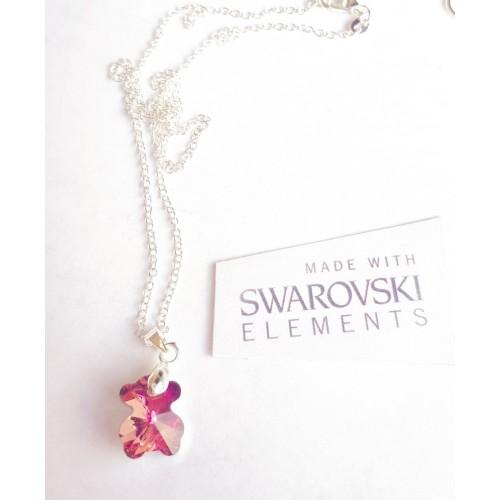 Колие SWAROVSKI Bear - Pink