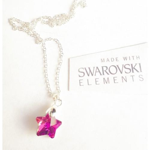 Колие SWAROVSKI Star - Pink