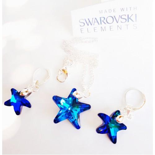 Комплект обеци и колие SWAROVSKI Морска звезда