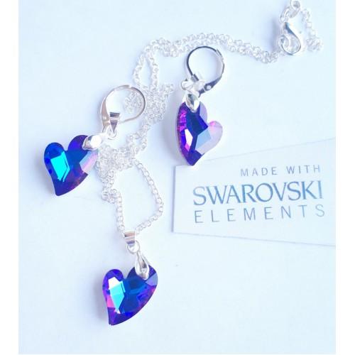 Комплект обеци и колие SWAROVSKI Сърце