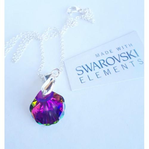 Комплект обеци и колие SWAROVSKI Lilac мида image 2