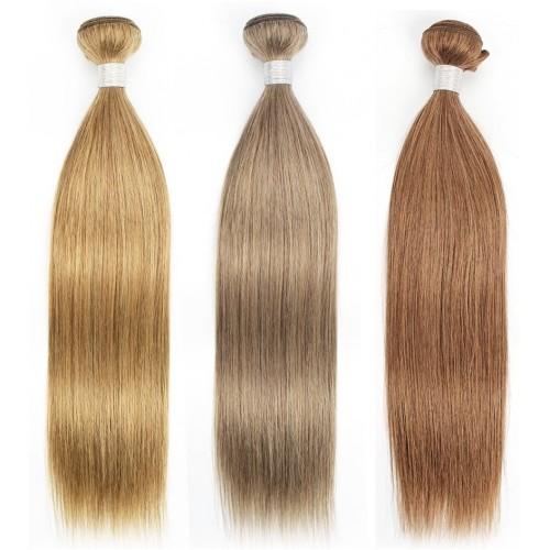 Индийска коса 60 см естествено русо image 2