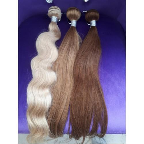 Индийска коса 60 см естествено русо image 3