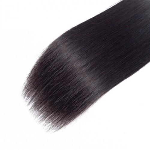 Индийска коса 60 см натурално черно image 2
