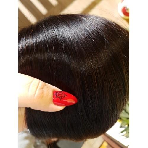 Индийска коса 60 см натурално черно image 5